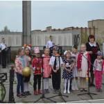 Воспитанники Речкаловского дет. сада на митинге дню Победы