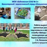 """Волонтерский отряд """"Инициатива"""" Зайковской школы № 1"""